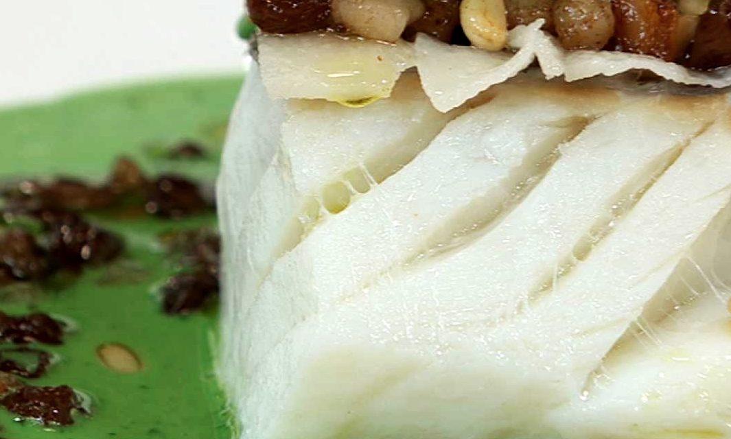 Merluza en Salsa de Espinacas